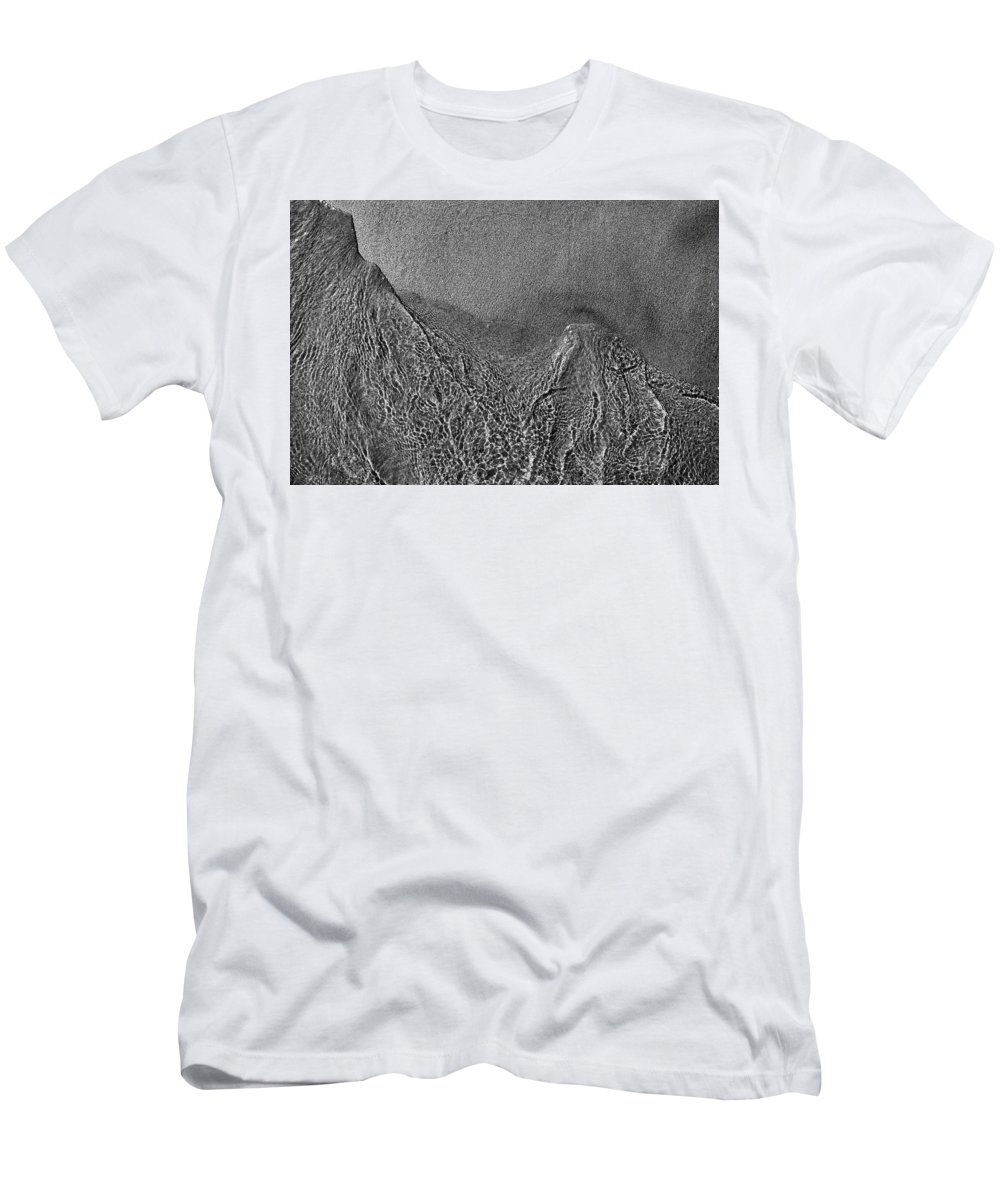 Abstract Men's T-Shirt (Athletic Fit) featuring the photograph In The Moment Bw Two by Lyle Crump