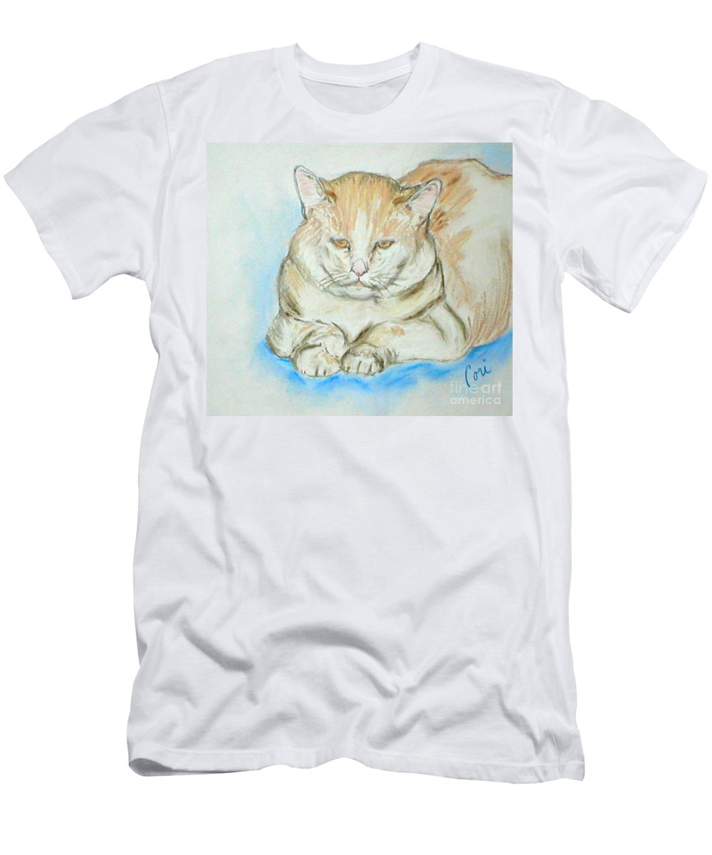 Pastel Men's T-Shirt (Athletic Fit) featuring the drawing In Waiting by Cori Solomon