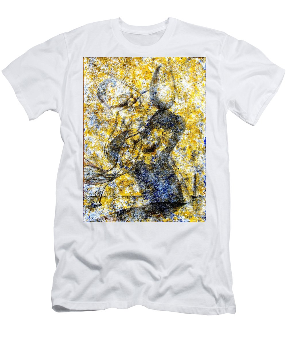 Inga Vereshchagina Men's T-Shirt (Athletic Fit) featuring the painting Infusion by Inga Vereshchagina