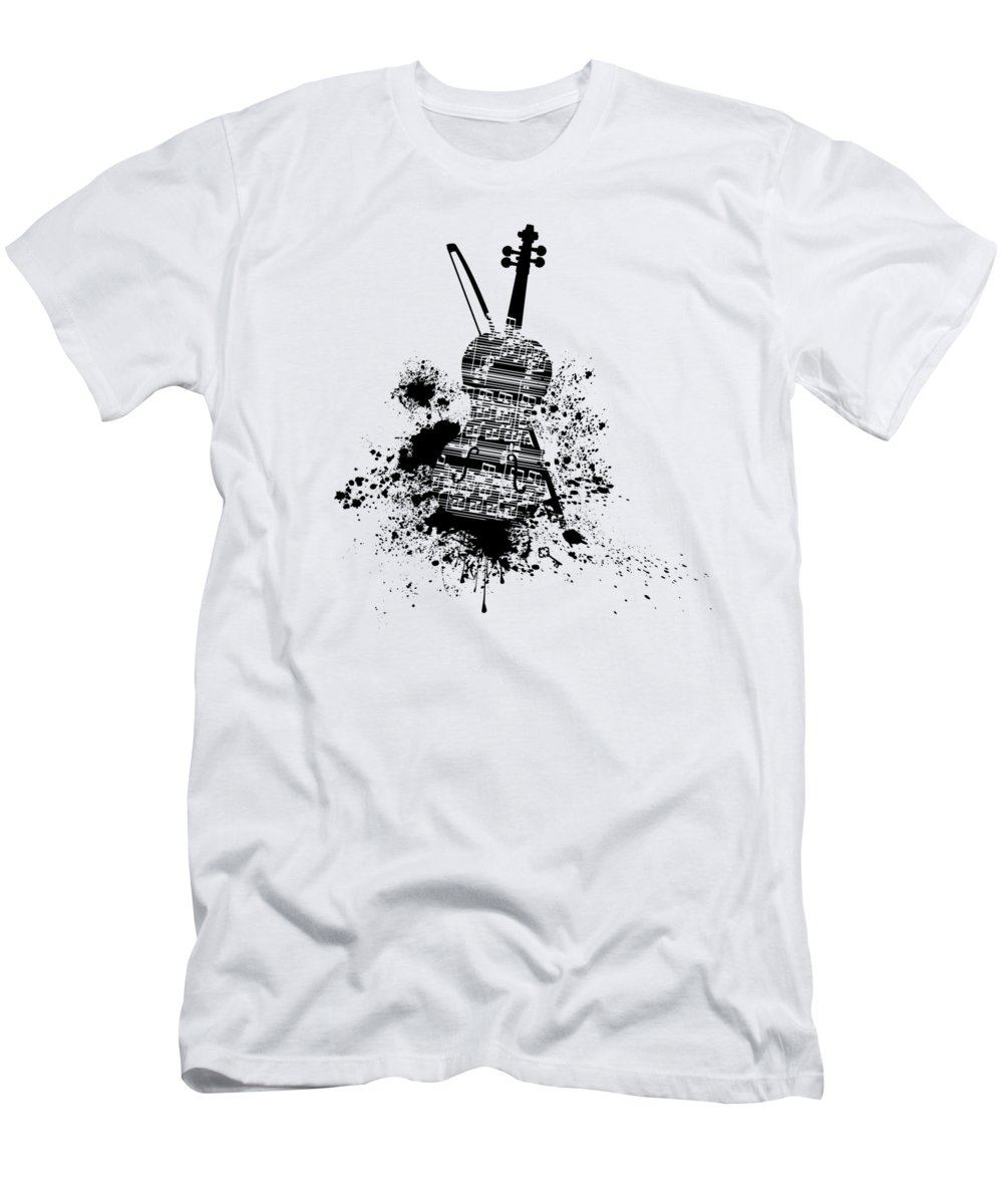 Inked Violin T Shirt For Sale By Barbara St Jean