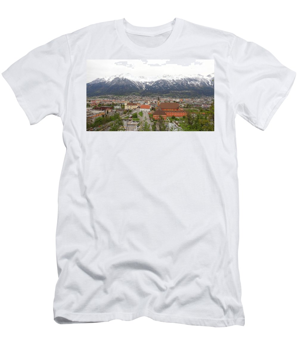 Innsbruck Men's T-Shirt (Athletic Fit) featuring the photograph Innsbruck View by Hitesh Patel