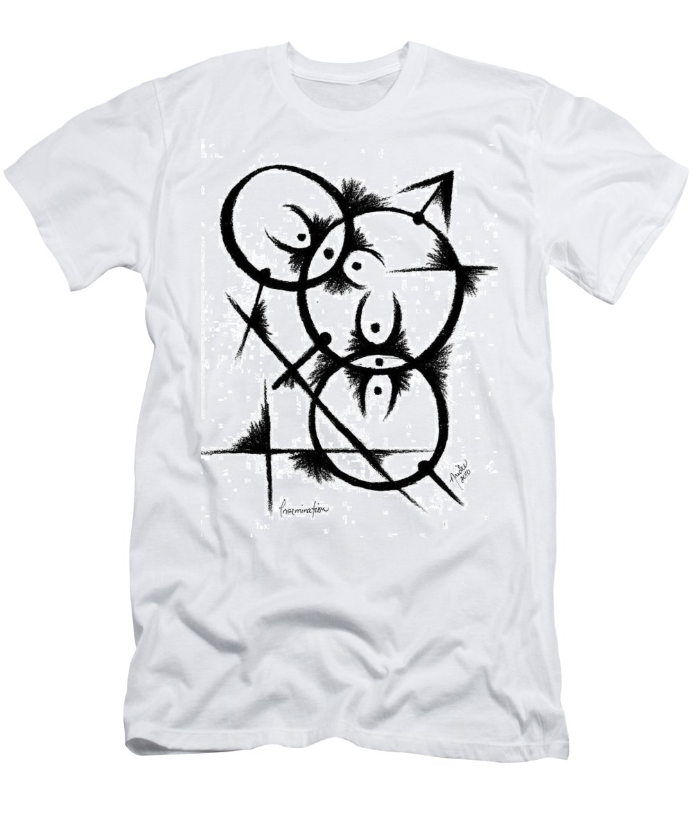 Modernist - Contemporany Men's T-Shirt (Athletic Fit) featuring the drawing Insemination by Arides Pichardo
