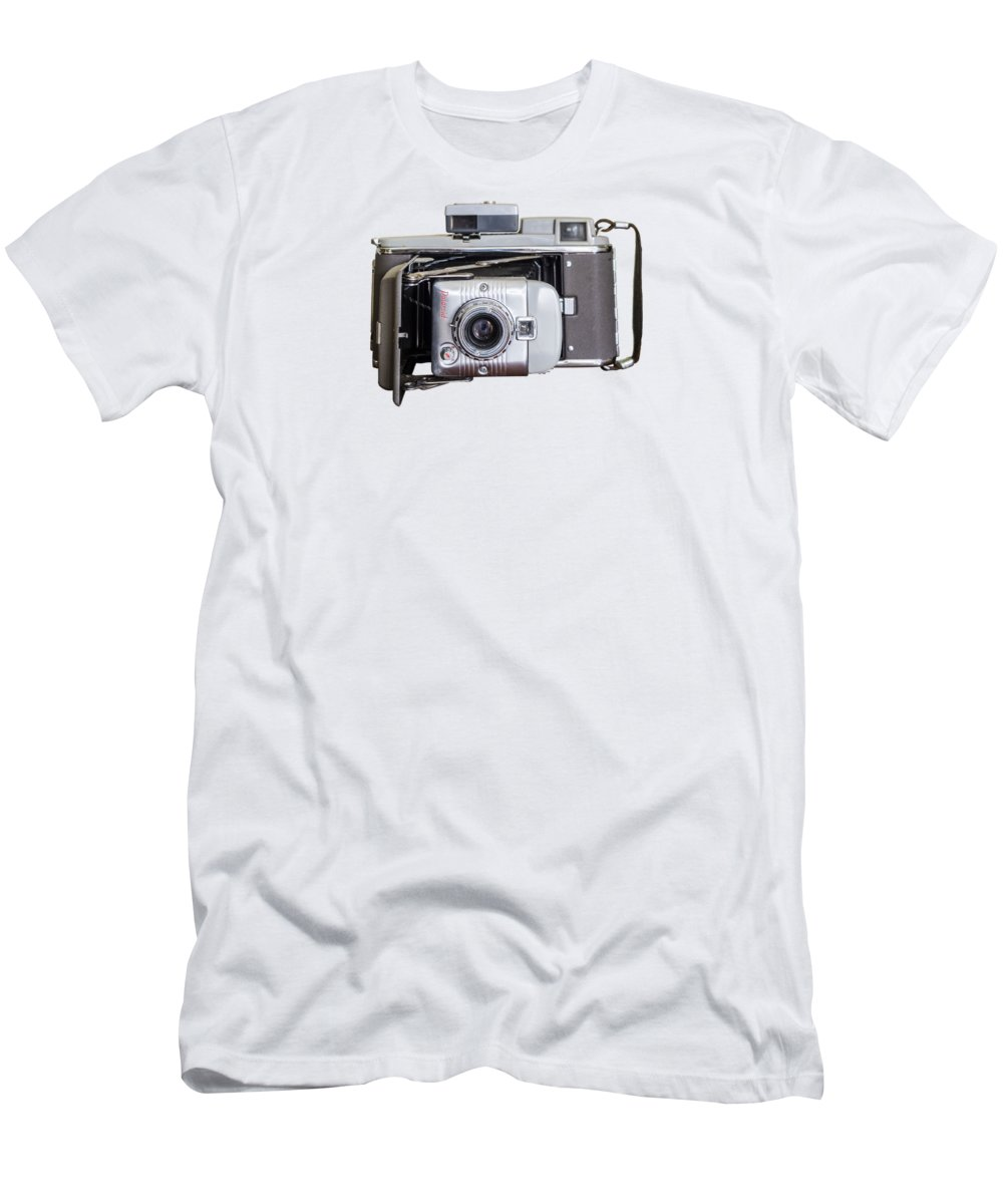 Instant Men's T-Shirt (Athletic Fit) featuring the photograph Instant Vintage Polaroid Camera by Juan Carlos Lopez