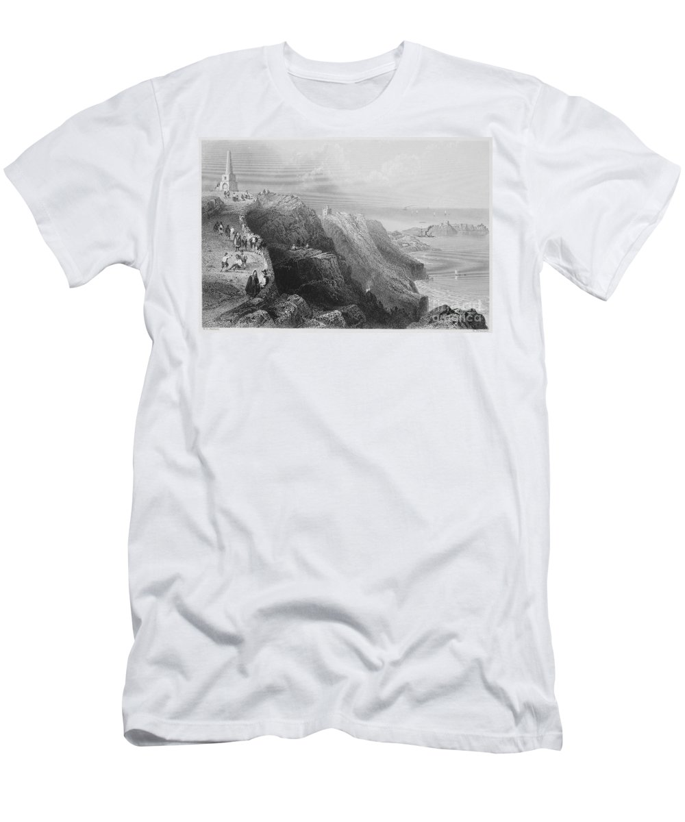 1840s Men's T-Shirt (Athletic Fit) featuring the photograph Ireland: Killiney Hill by Granger
