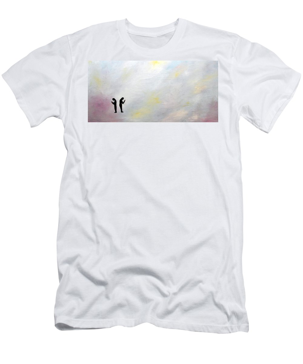 People Men's T-Shirt (Athletic Fit) featuring the painting Isolated by Asher Topel