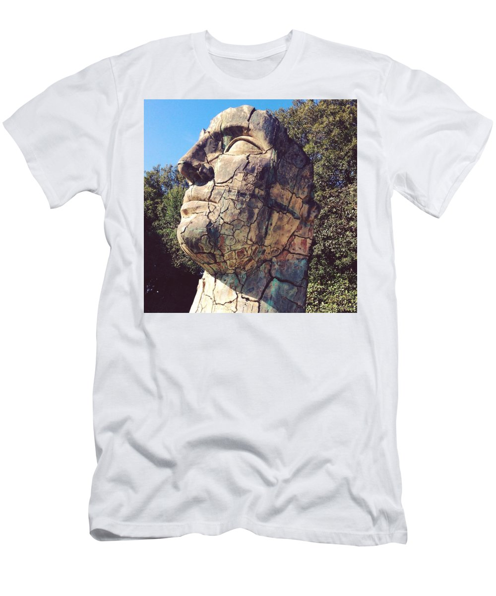 Art Men's T-Shirt (Athletic Fit) featuring the photograph Italian Statue by Gaston Granger