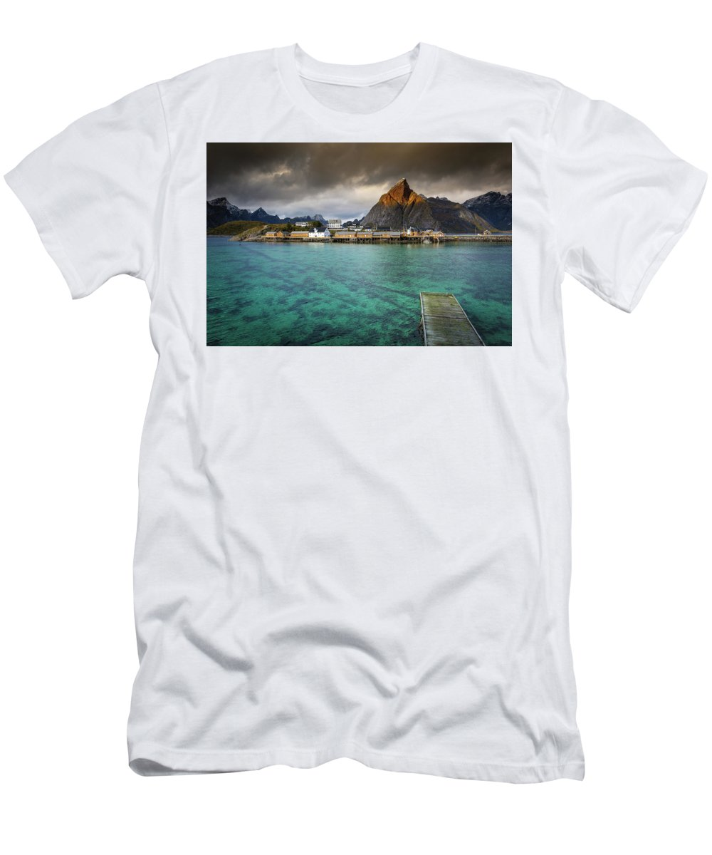 Seascape Men's T-Shirt (Athletic Fit) featuring the photograph It's Not The Caribbean by Alex Conu