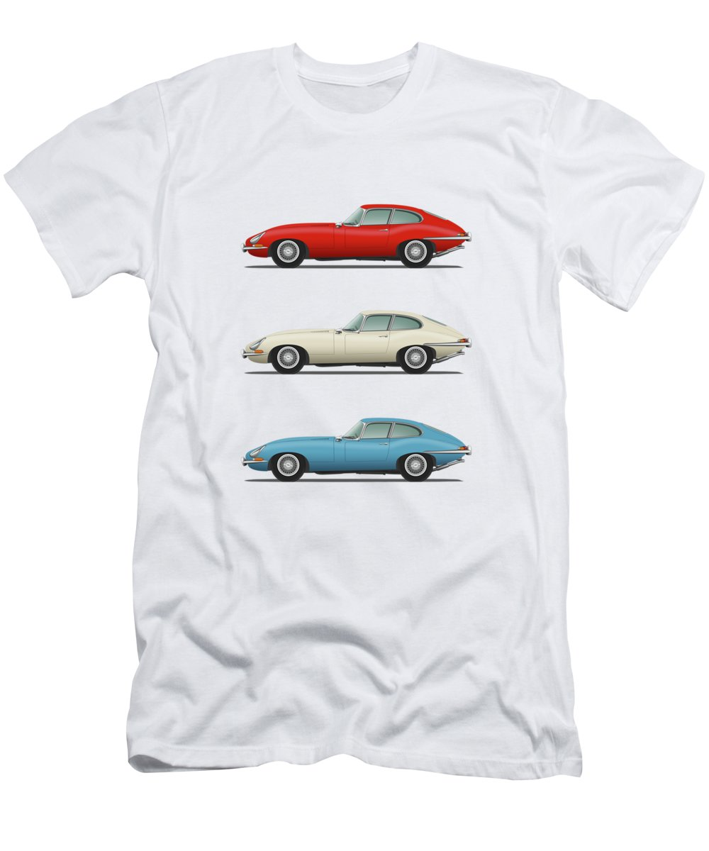 21f6b64e Jaguar Men's T-Shirt (Athletic Fit) featuring the digital art Jaguar E Type
