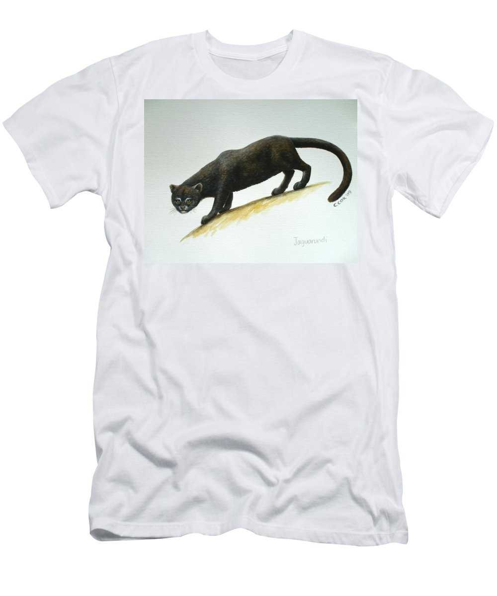 Jaguarundi Men's T-Shirt (Athletic Fit) featuring the painting Jaguarundi by Christopher Cox