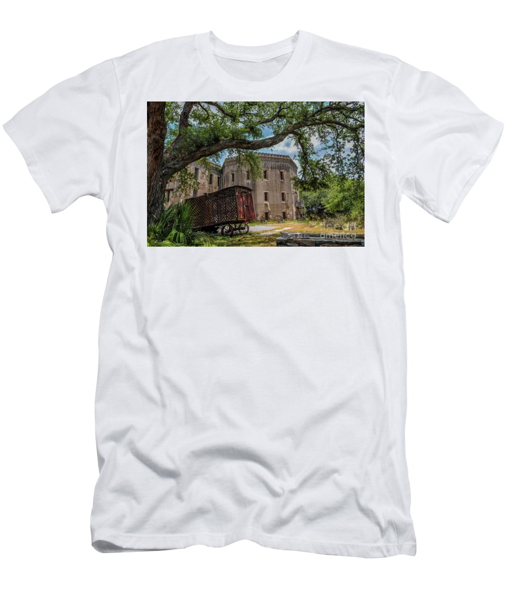 Old City Jail Men's T-Shirt (Athletic Fit) featuring the photograph Jailhouse Rock by Dale Powell