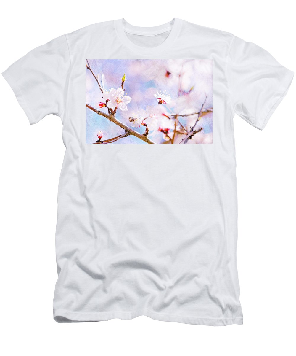 Cherry Men's T-Shirt (Athletic Fit) featuring the photograph Japanese Cherry - Sakura In Bloom by Alexander Senin