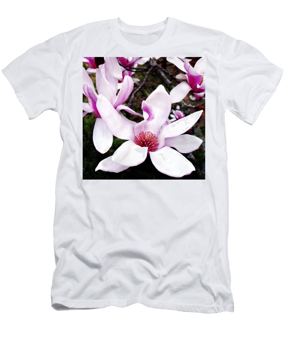 Japanese Men's T-Shirt (Athletic Fit) featuring the photograph Japanese Magnolia by Marilyn Hunt