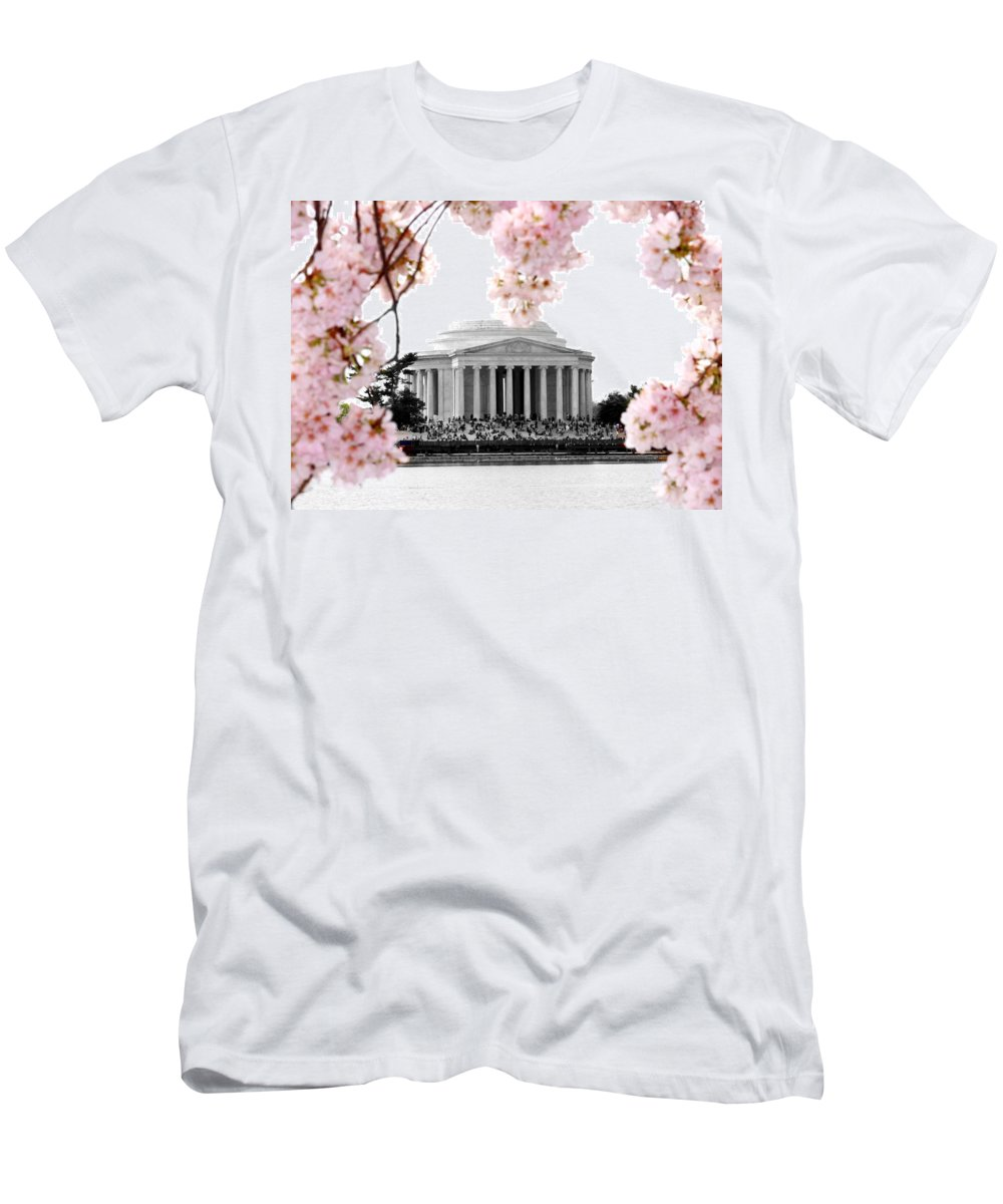 Jefferson Men's T-Shirt (Athletic Fit) featuring the photograph Jefferson In Spring by Tina Meador