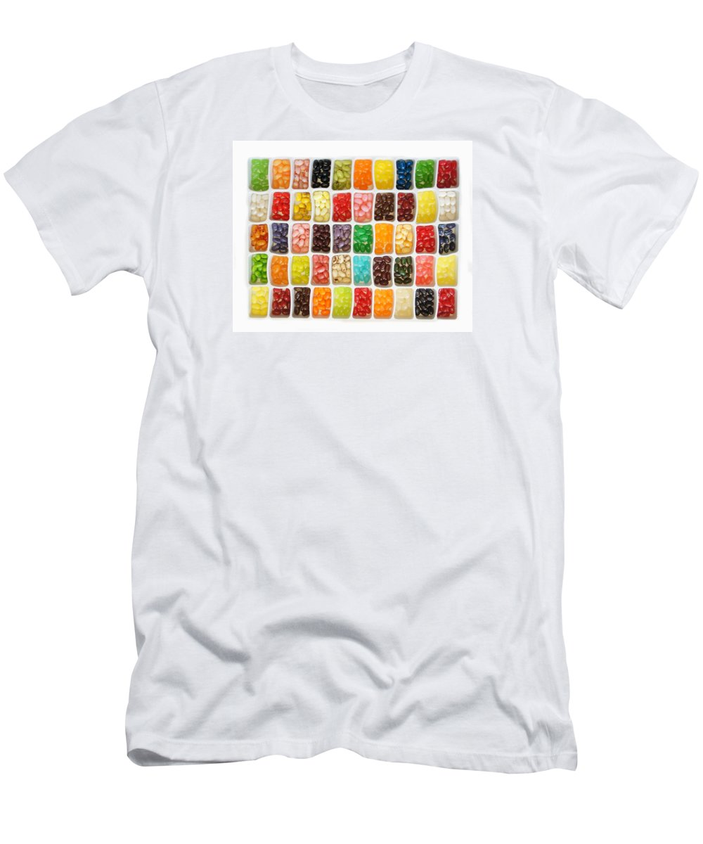 Bean Men's T-Shirt (Athletic Fit) featuring the photograph Jellybeans by Art Spectrum