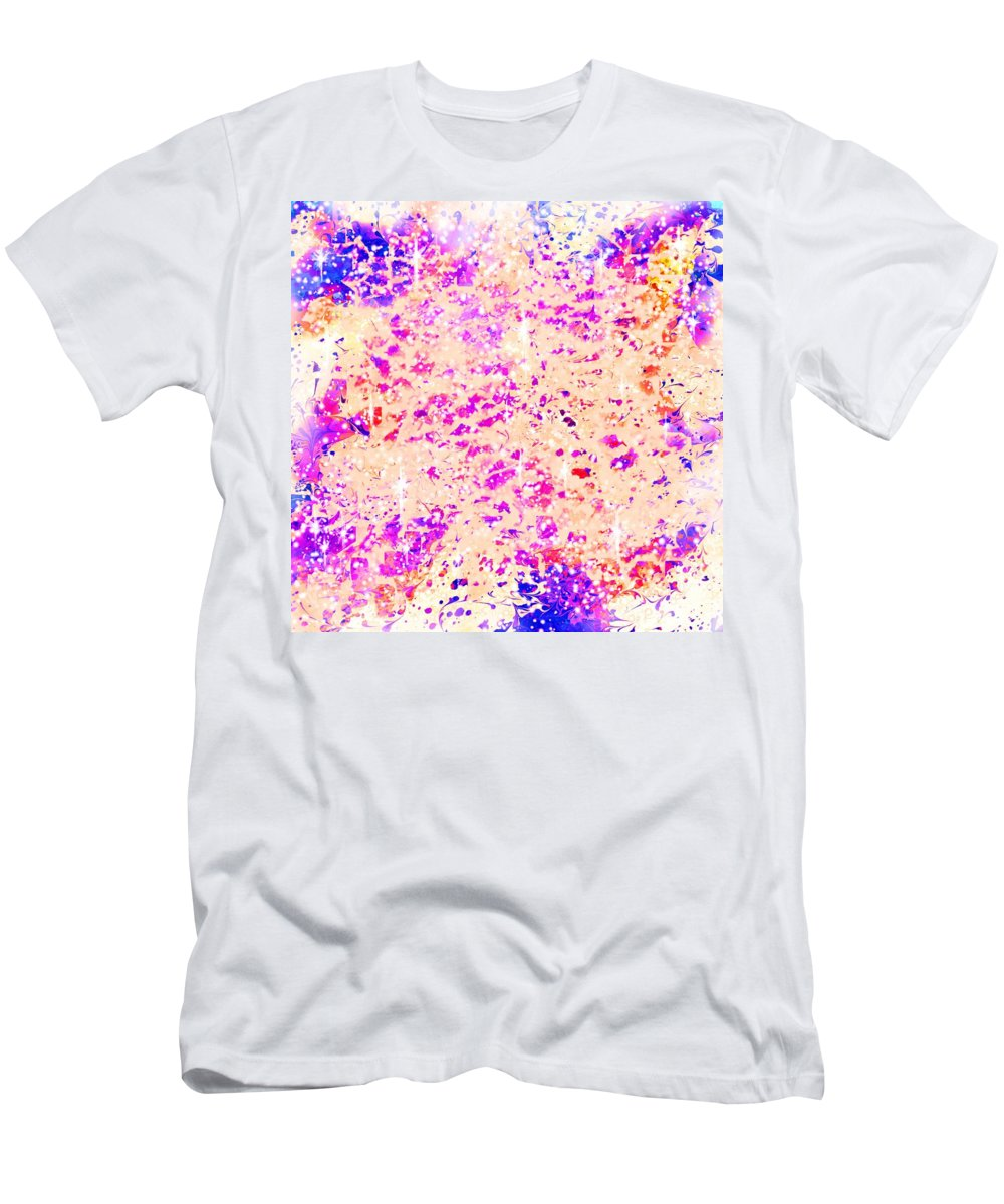 Abstract Men's T-Shirt (Athletic Fit) featuring the digital art Jewels In The Sky by Rachel Christine Nowicki