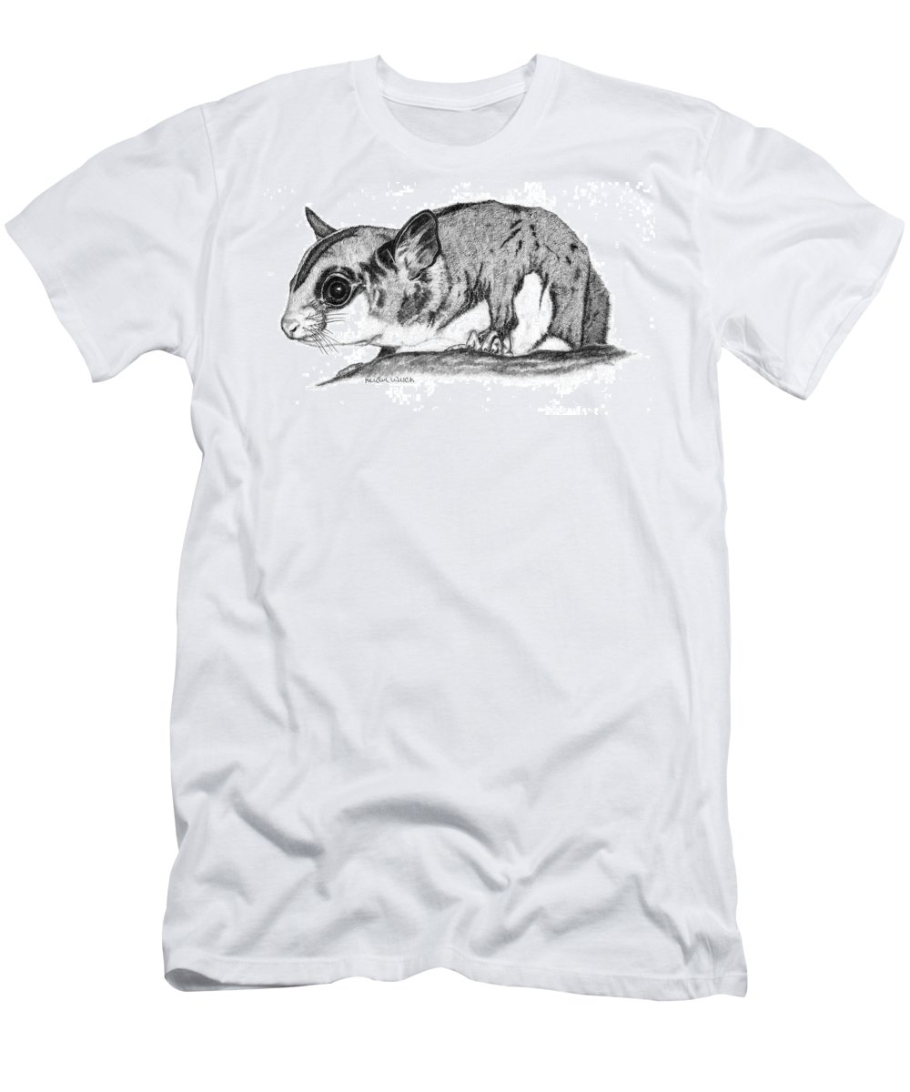 Sugar Glider Men's T-Shirt (Athletic Fit) featuring the drawing Joey by Kristen Wesch