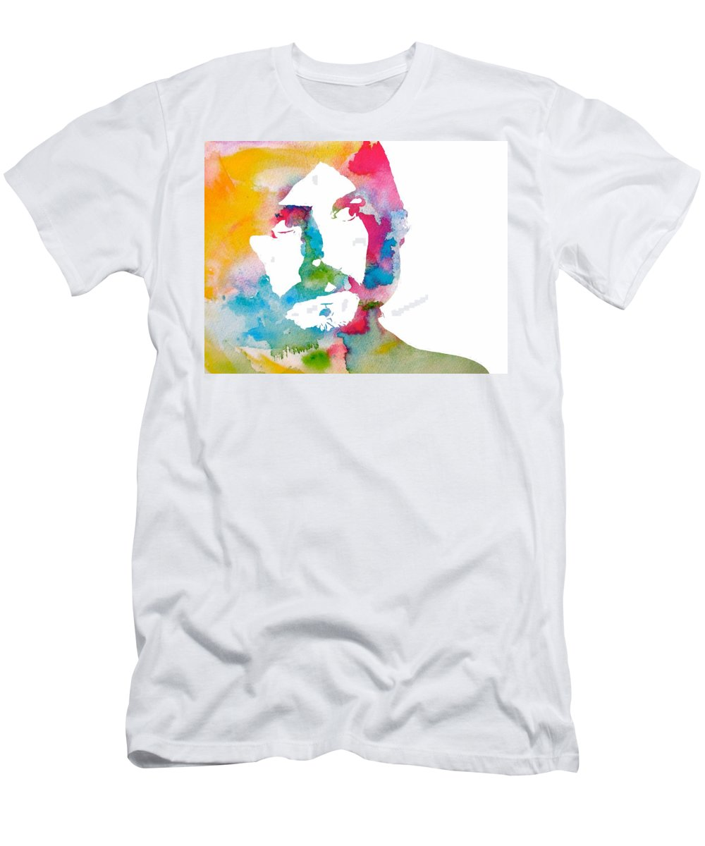 John Bonham Watercolor T-Shirt featuring the digital art John Bonham Watercolor by Dan Sproul