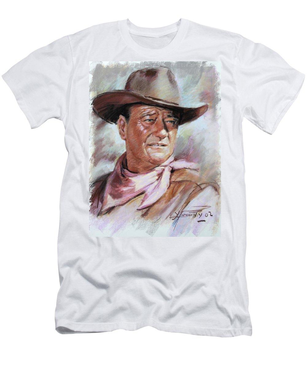 John Wayn T-Shirt featuring the pastel John Wayn by Ylli Haruni