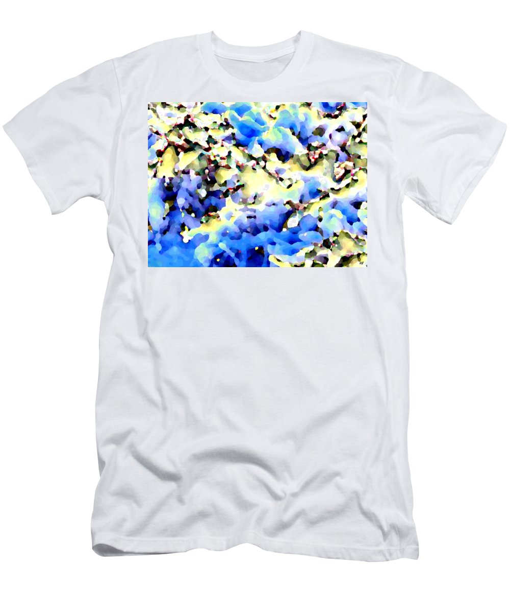 Abstract Men's T-Shirt (Athletic Fit) featuring the digital art Jolly Winter Blues by Will Borden