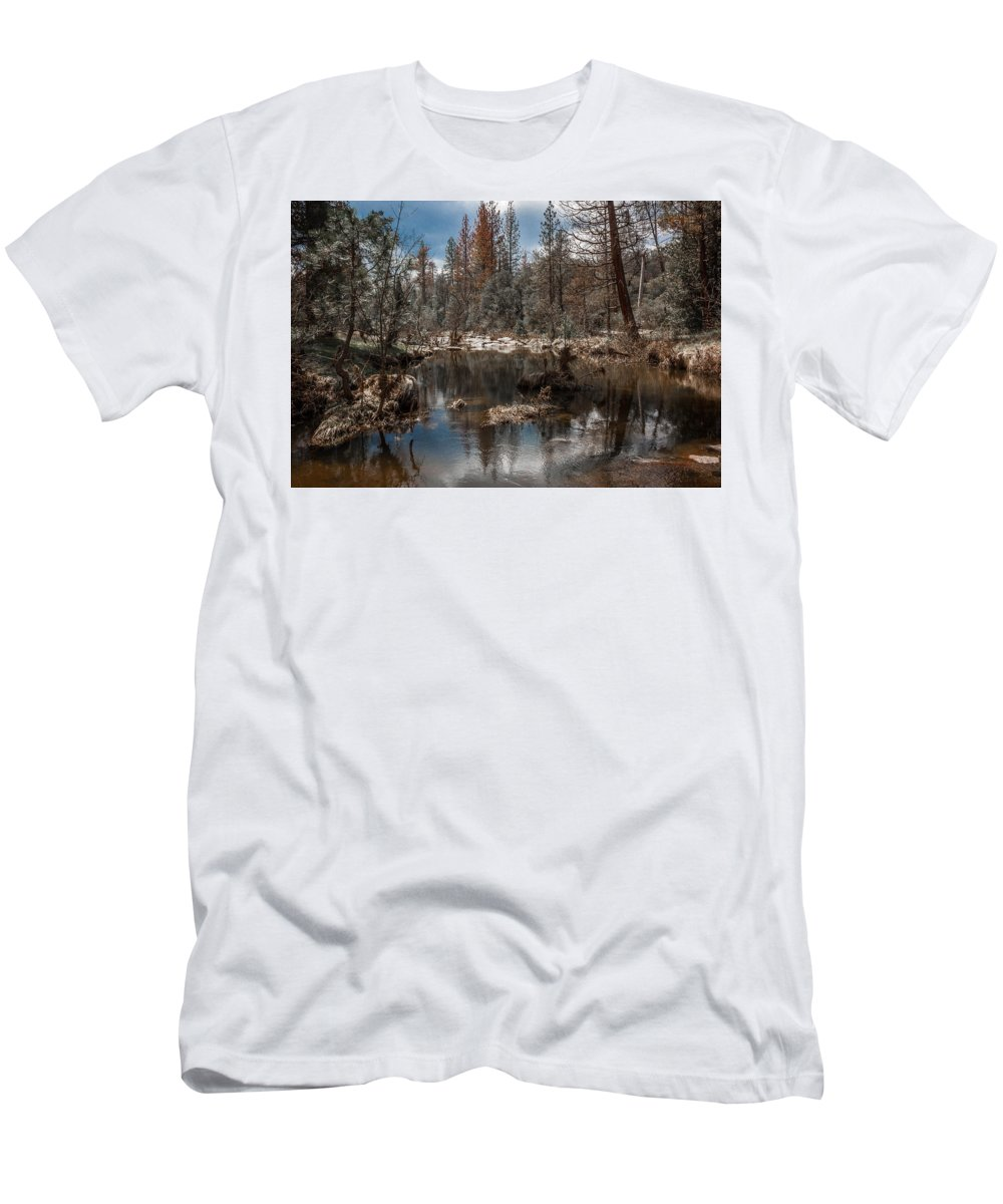 Landscape Men's T-Shirt (Athletic Fit) featuring the photograph Jose Creek by David Barile