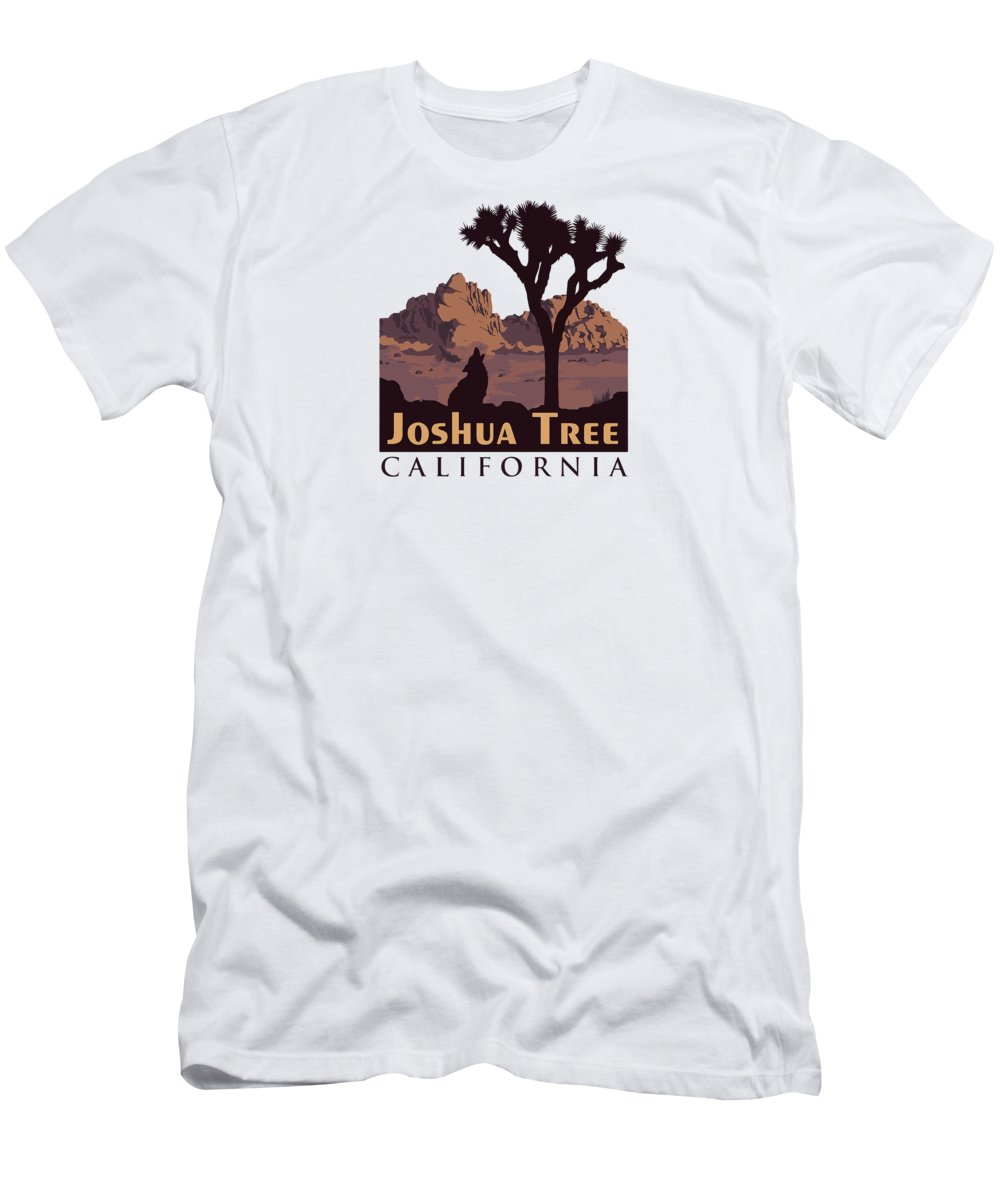 Joshua Tree Men's T-Shirt (Athletic Fit) featuring the digital art Joshua Tree. by American Roadside