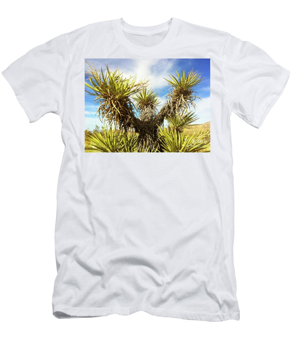 Nature Men's T-Shirt (Athletic Fit) featuring the photograph Joshua Tree Claiming To The Heavens Above by Xabi Lobo