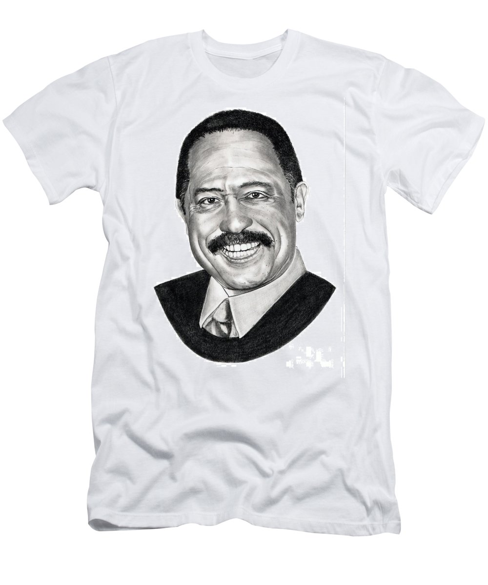 Judge Joe Brown Men's T-Shirt (Athletic Fit) featuring the drawing Judge Joe Brown by Murphy Elliott
