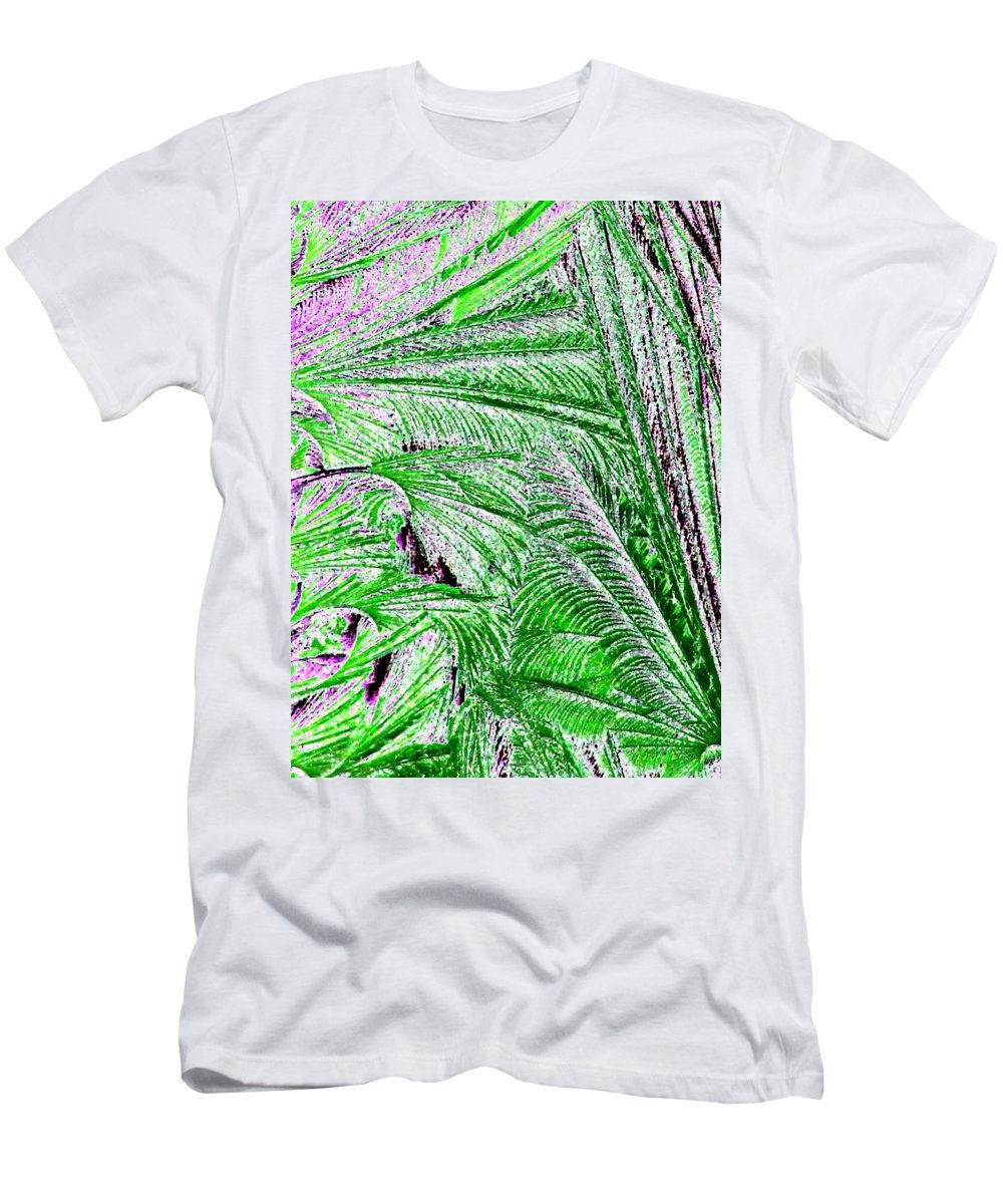 Abstract Men's T-Shirt (Athletic Fit) featuring the digital art Jungle Flora by Will Borden