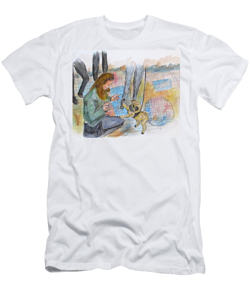 Erika Kell Men's T-Shirt (Athletic Fit) featuring the painting Just One More by Clyde J Kell