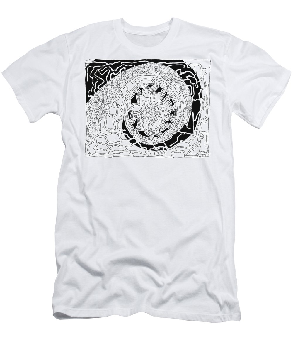 Abstract Men's T-Shirt (Athletic Fit) featuring the drawing Karma by Steven Natanson