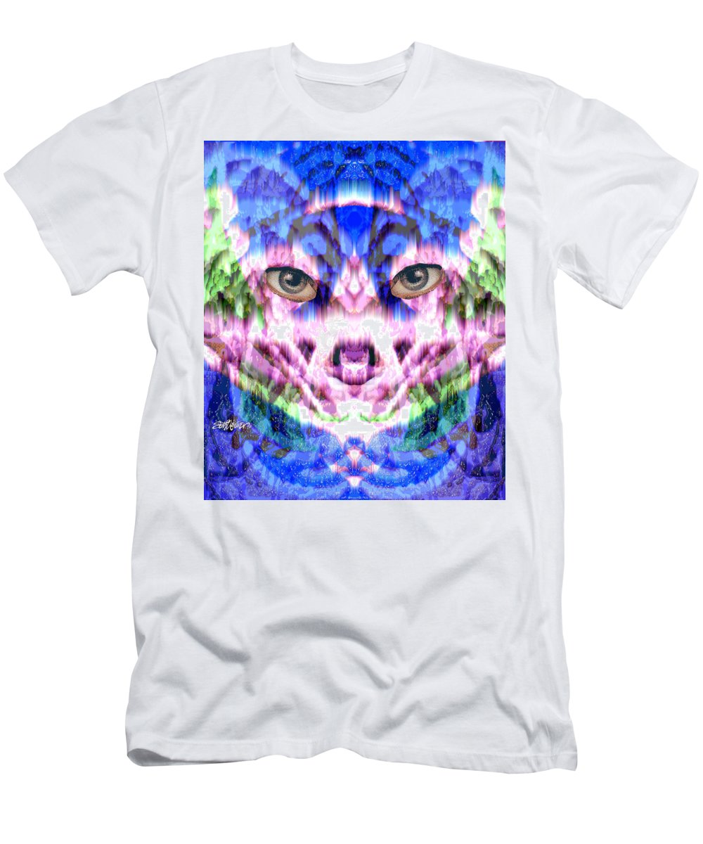 Cat Men's T-Shirt (Athletic Fit) featuring the digital art Katechism by Seth Weaver
