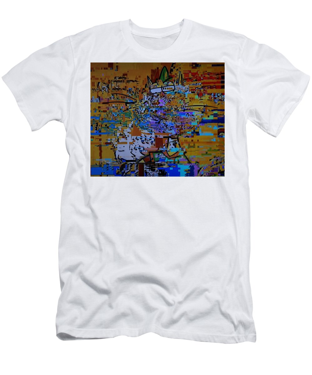 No Signal Men's T-Shirt (Athletic Fit) featuring the photograph kattNO by Dannielle White-Gholson