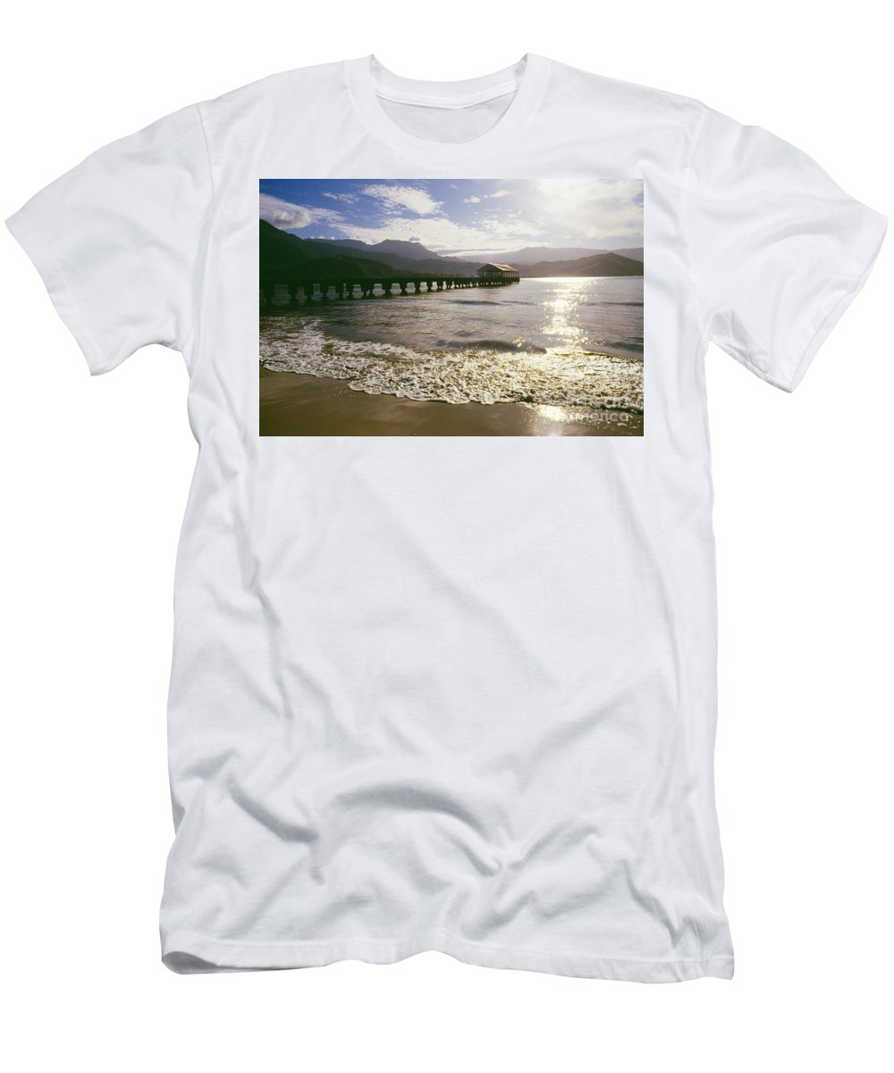 Afternoon Men's T-Shirt (Athletic Fit) featuring the photograph Kauai, Hanalei Bay by Dana Edmunds - Printscapes