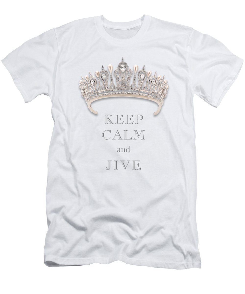 Keep Calm And Jive Men's T-Shirt (Athletic Fit) featuring the photograph Keep Calm And Jive Diamond Tiara Transparent Png by Kathy Anselmo