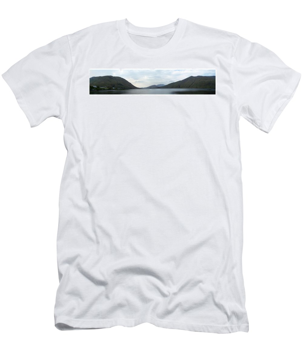 Landscape Men's T-Shirt (Athletic Fit) featuring the photograph Killary Harbour Leenane Ireland by Teresa Mucha