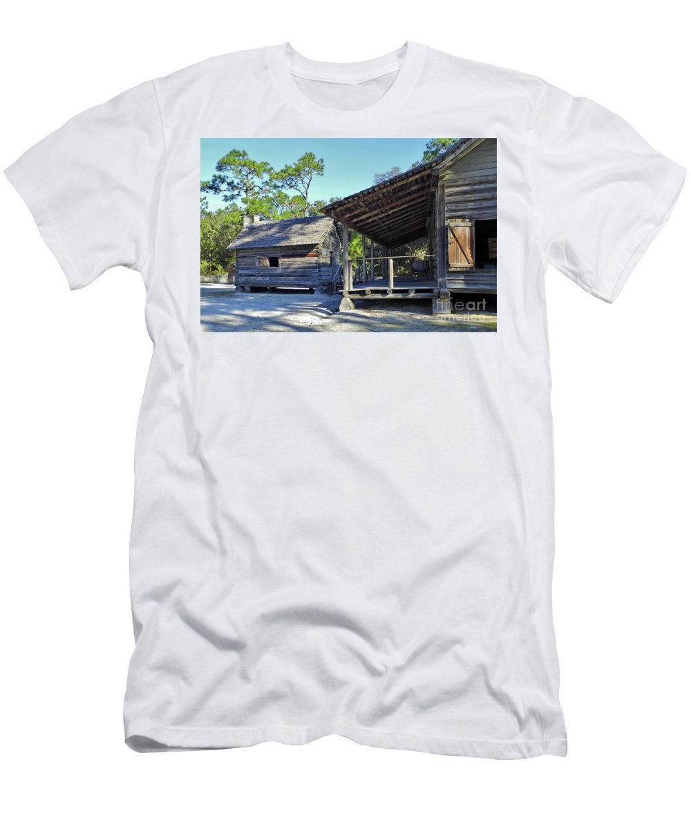 Kitchen Men's T-Shirt (Athletic Fit) featuring the photograph Kitchen Out Back by D Hackett