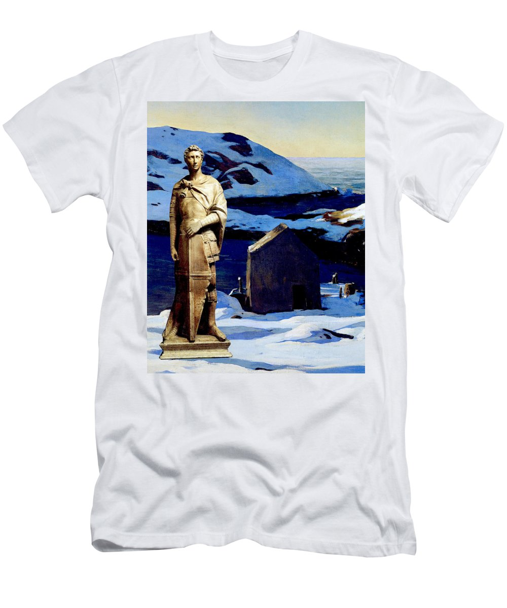 Collage Men's T-Shirt (Athletic Fit) featuring the digital art Knight Guard by John Vincent Palozzi