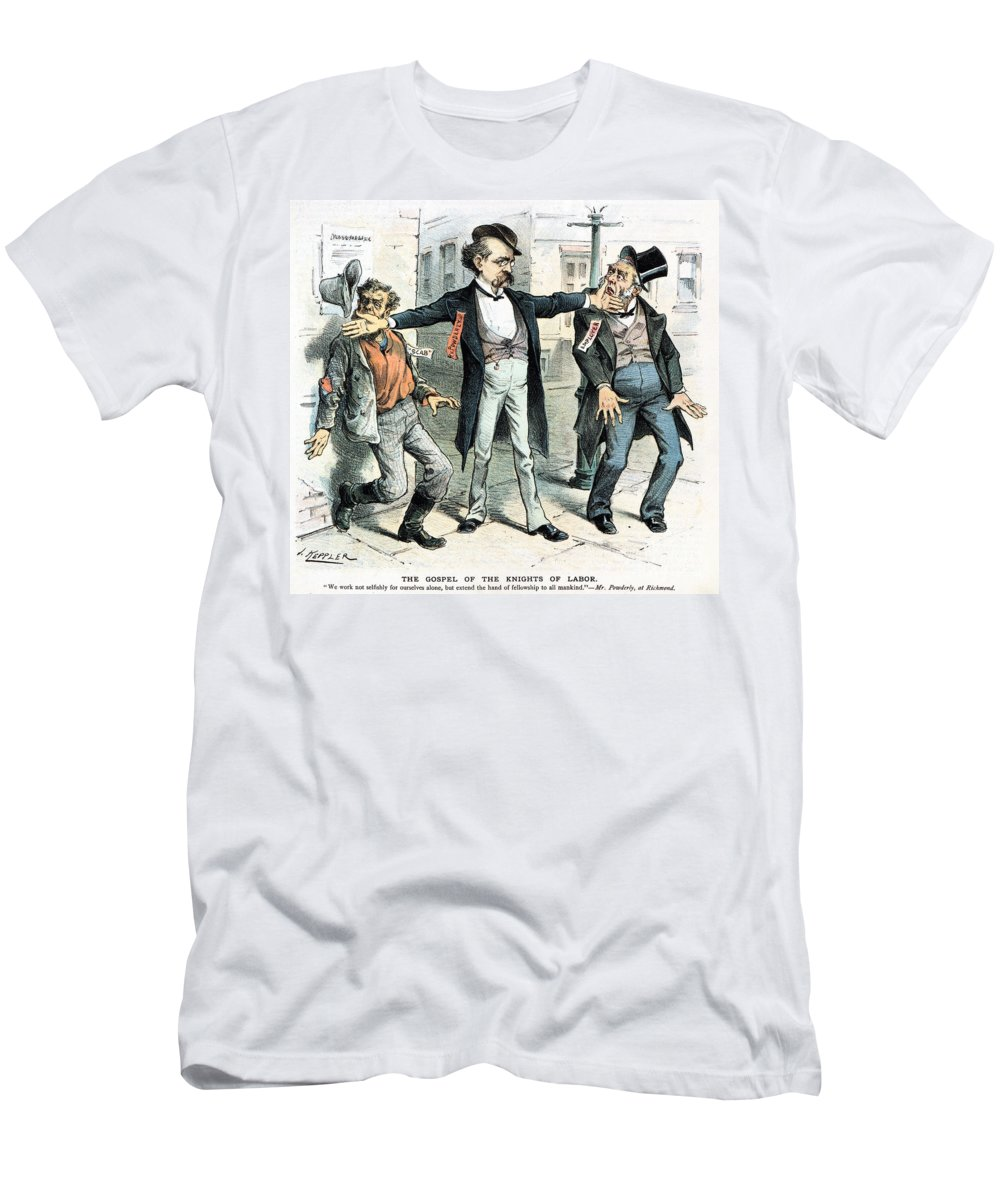 1886 Men's T-Shirt (Athletic Fit) featuring the photograph Knights Of Labor: Cartoon by Granger