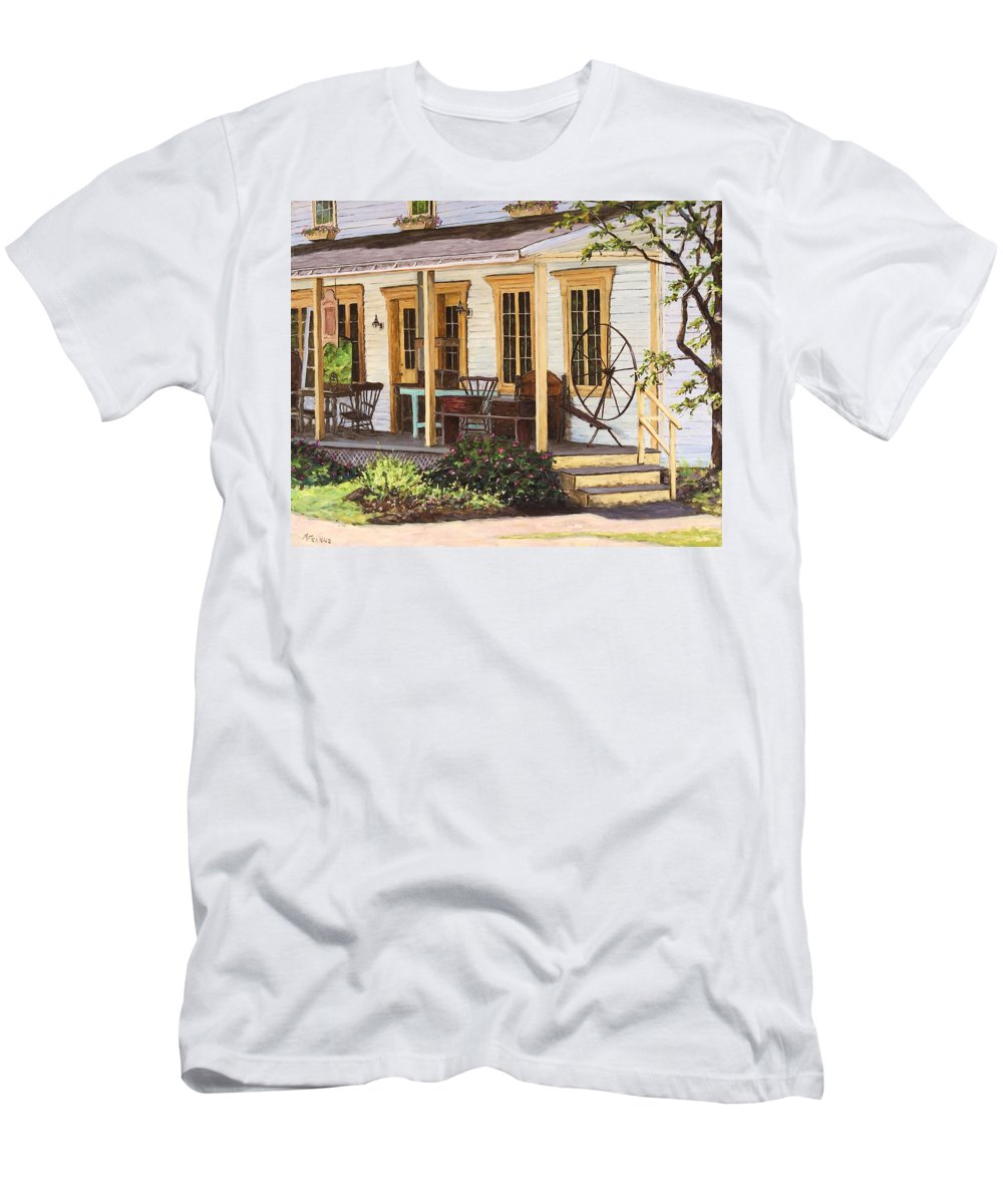 Urban Men's T-Shirt (Athletic Fit) featuring the painting Knowlton Lac Brome by Richard T Pranke