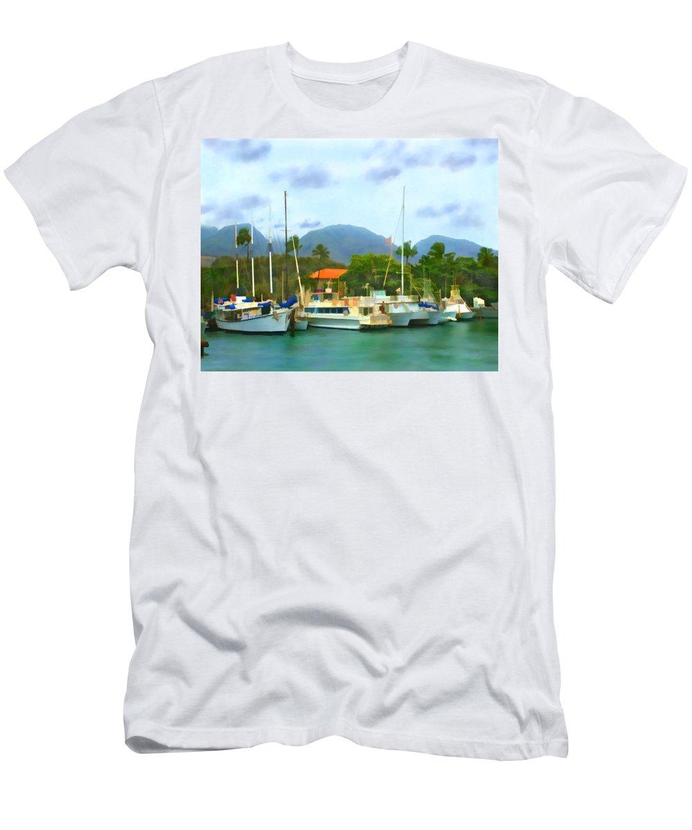 Lahina Men's T-Shirt (Athletic Fit) featuring the photograph Lahina Harbor by Kurt Van Wagner