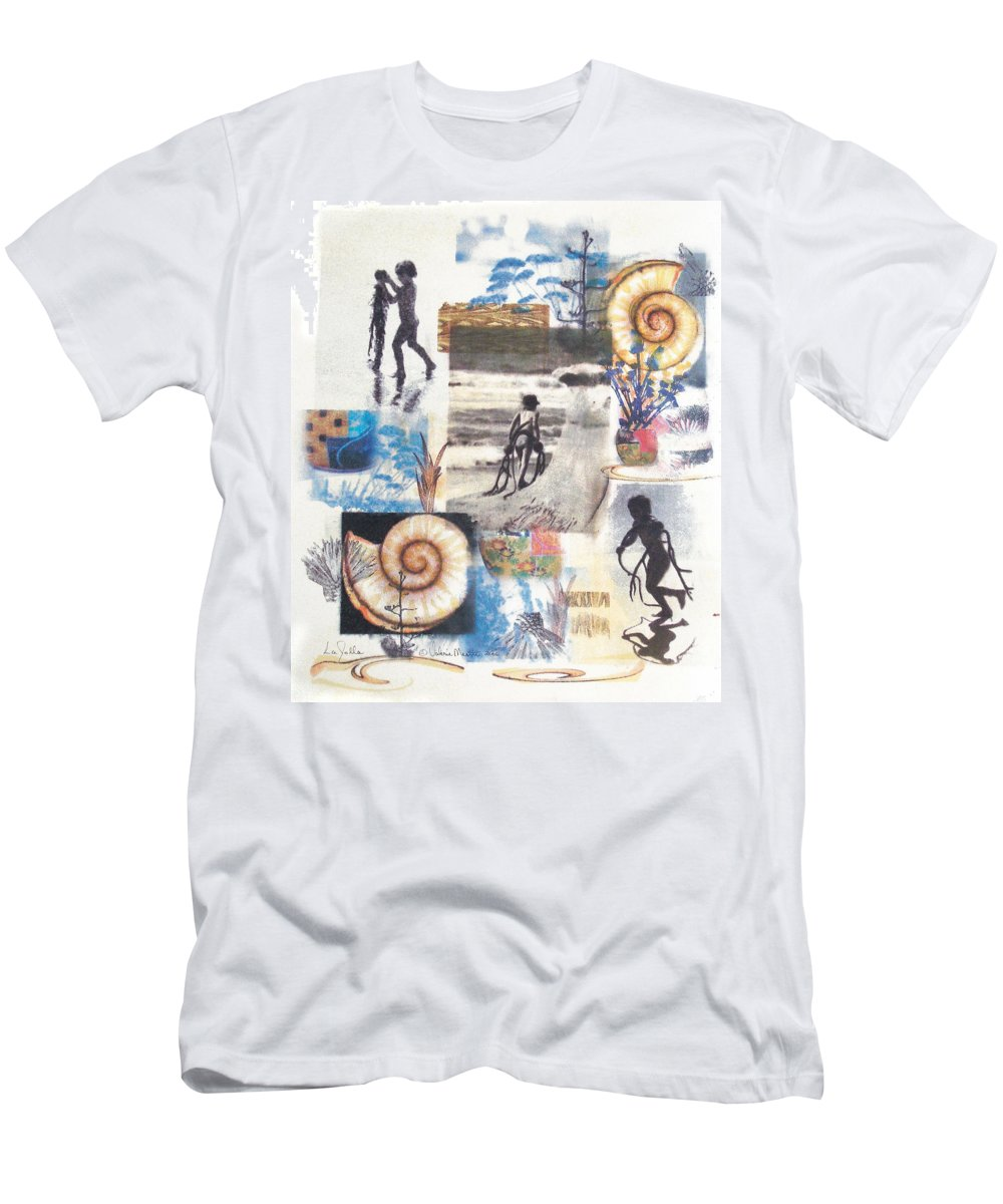 Abstract Men's T-Shirt (Athletic Fit) featuring the painting Lajolla by Valerie Meotti