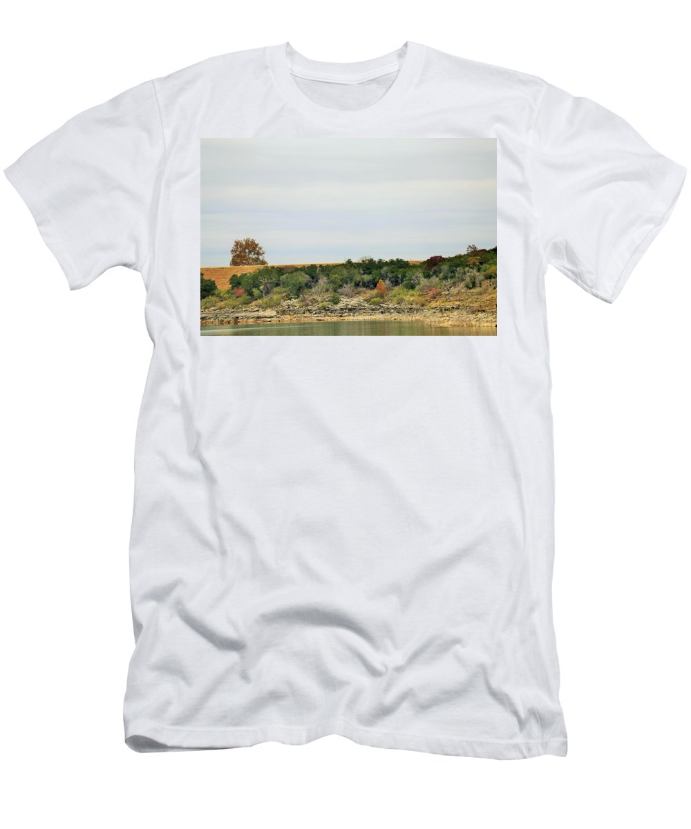 Men's T-Shirt (Athletic Fit) featuring the photograph Lake028 by Jeff Downs