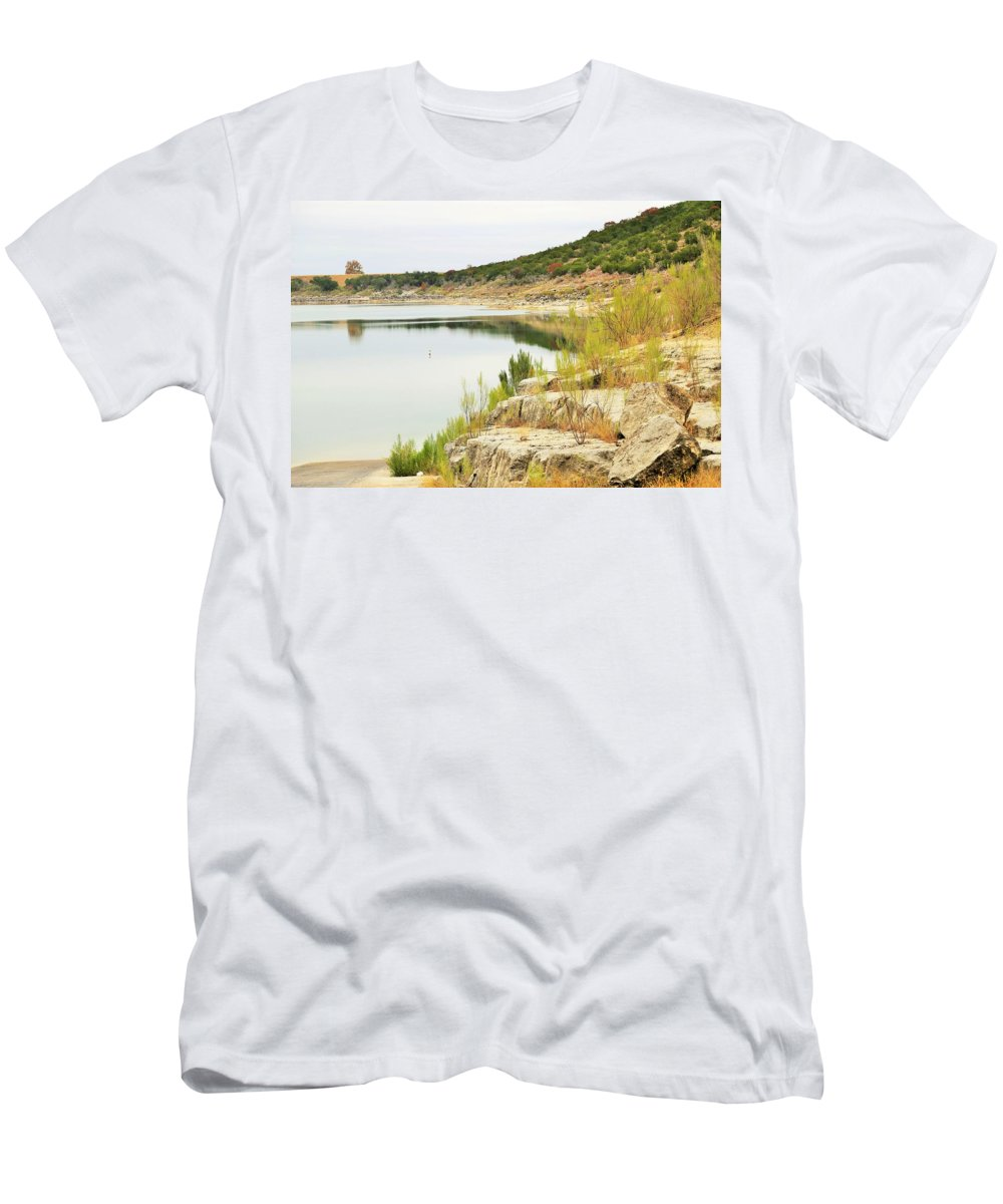 Men's T-Shirt (Athletic Fit) featuring the photograph Lake032 by Jeff Downs