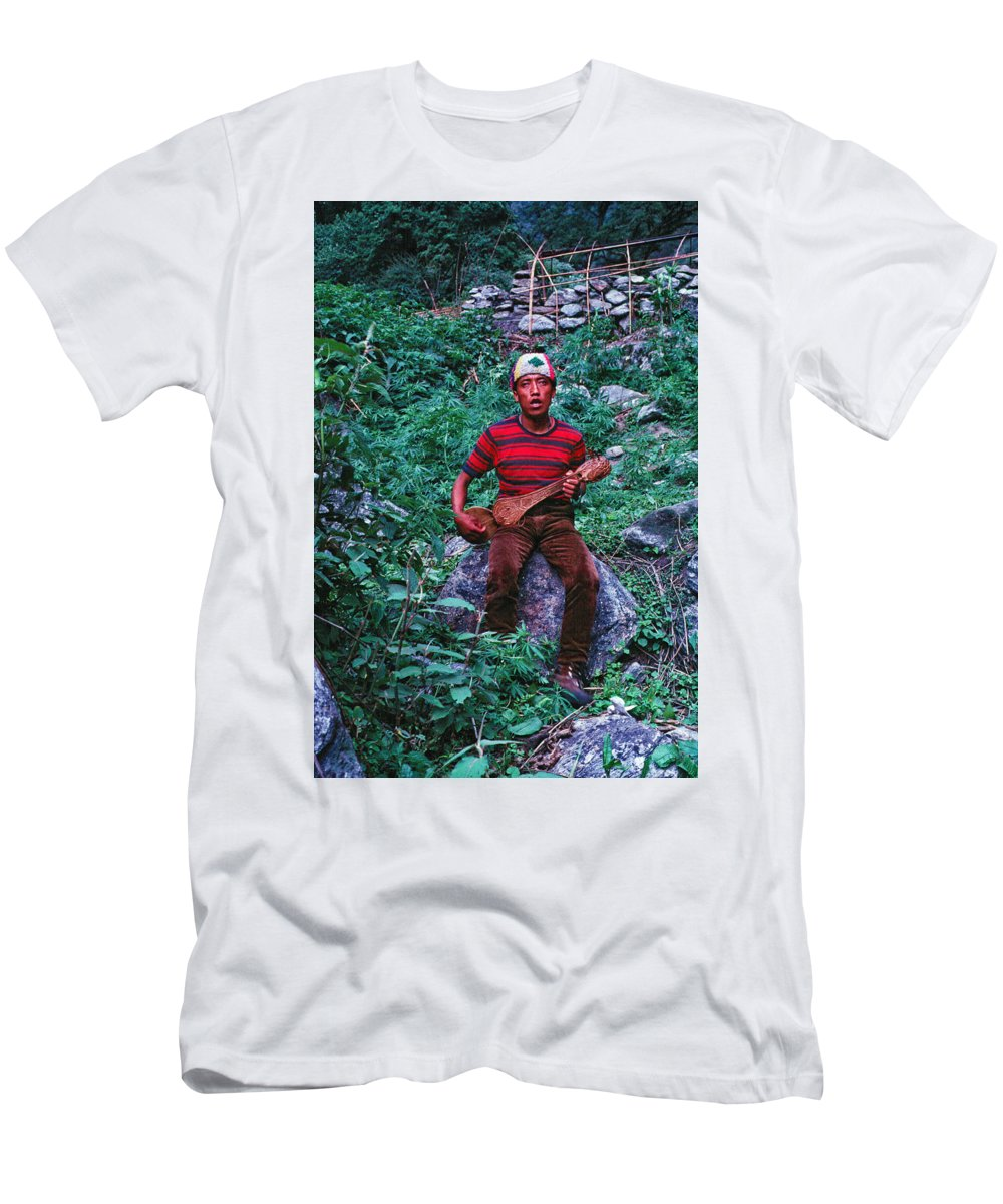 Lama Hotel Men's T-Shirt (Athletic Fit) featuring the photograph Lama Hotel by Omar Shafey
