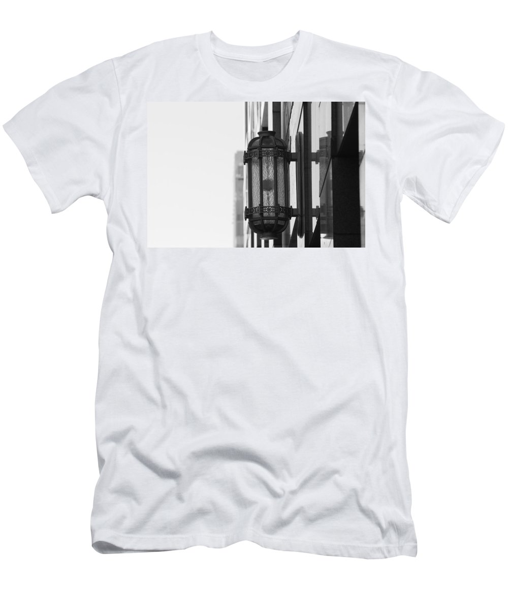 Architecture Men's T-Shirt (Athletic Fit) featuring the photograph Lamp On The Wall by Rob Hans