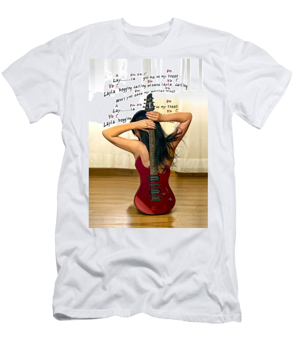 Electric Guitar Men's T-Shirt (Athletic Fit) featuring the photograph Layla by Donovan Torres