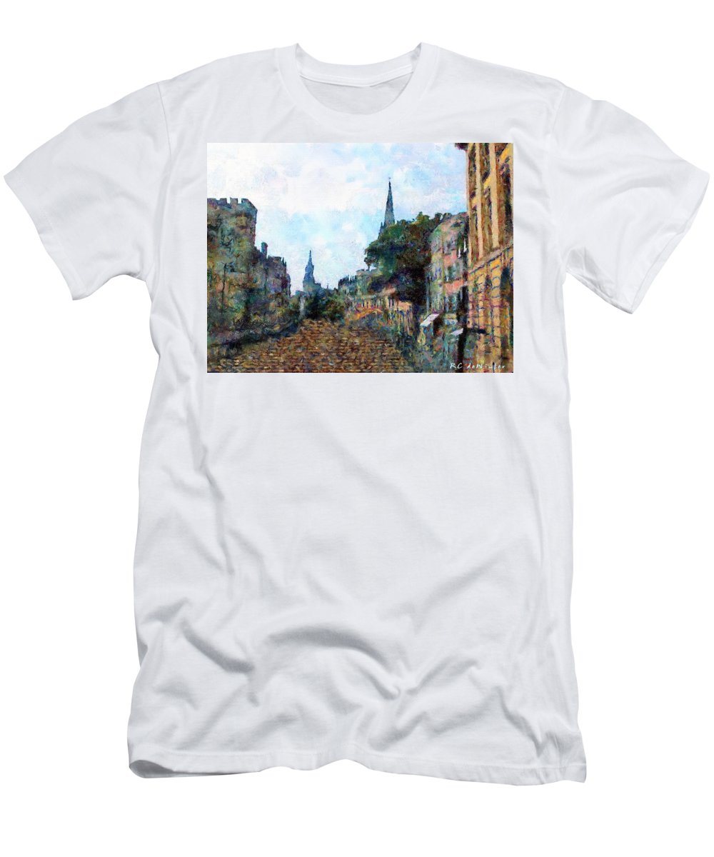 19th Century Men's T-Shirt (Athletic Fit) featuring the painting Le Boulevard Vide by RC DeWinter