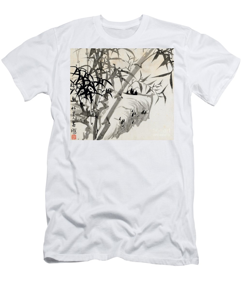 Leaf Men's T-Shirt (Athletic Fit) featuring the painting Leaf C by Rang Tian
