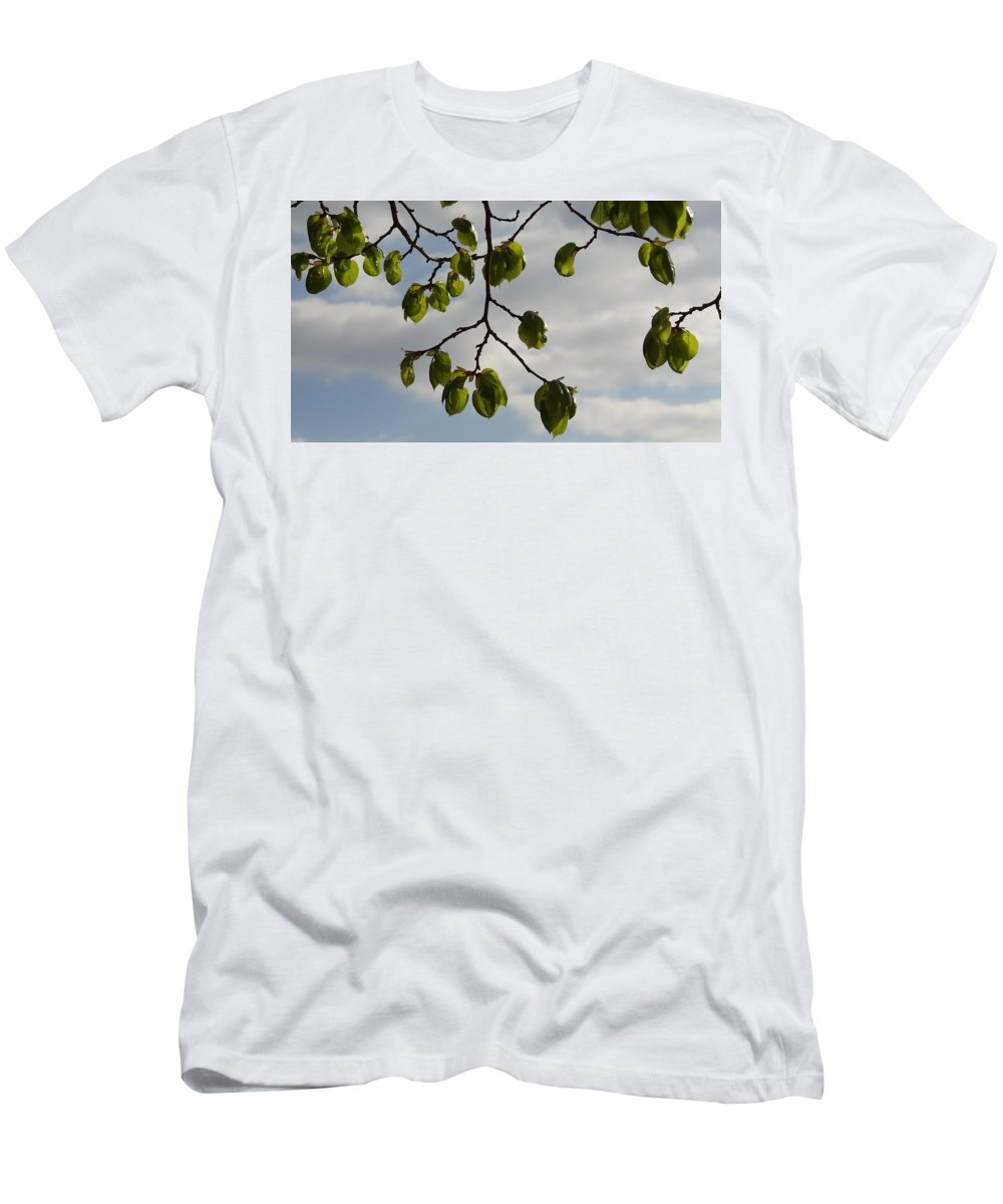 Leaves Men's T-Shirt (Athletic Fit) featuring the photograph Leaves by Hitesh Patel