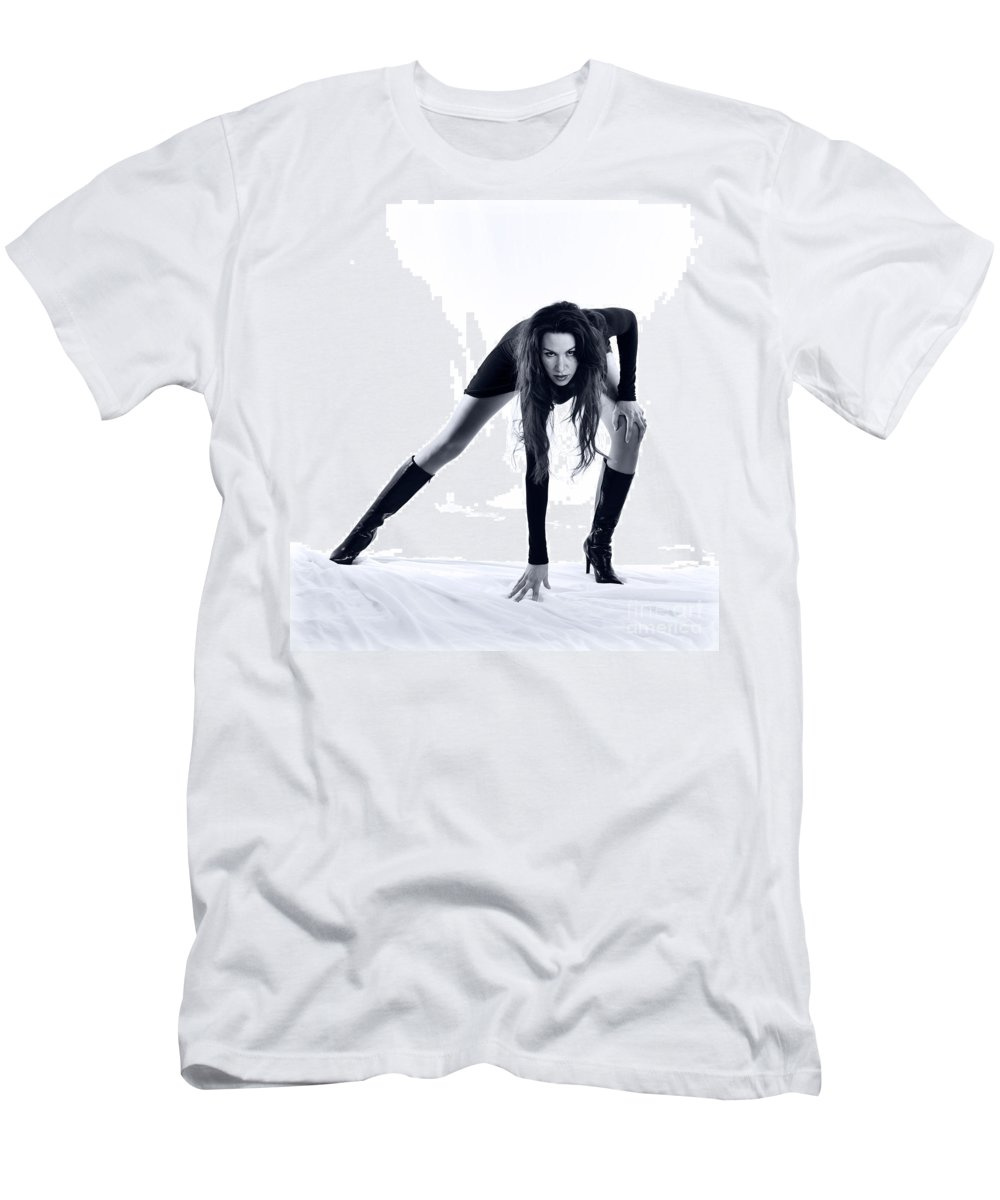 Long Legs Men's T-Shirt (Athletic Fit) featuring the photograph Legs by Scott Sawyer